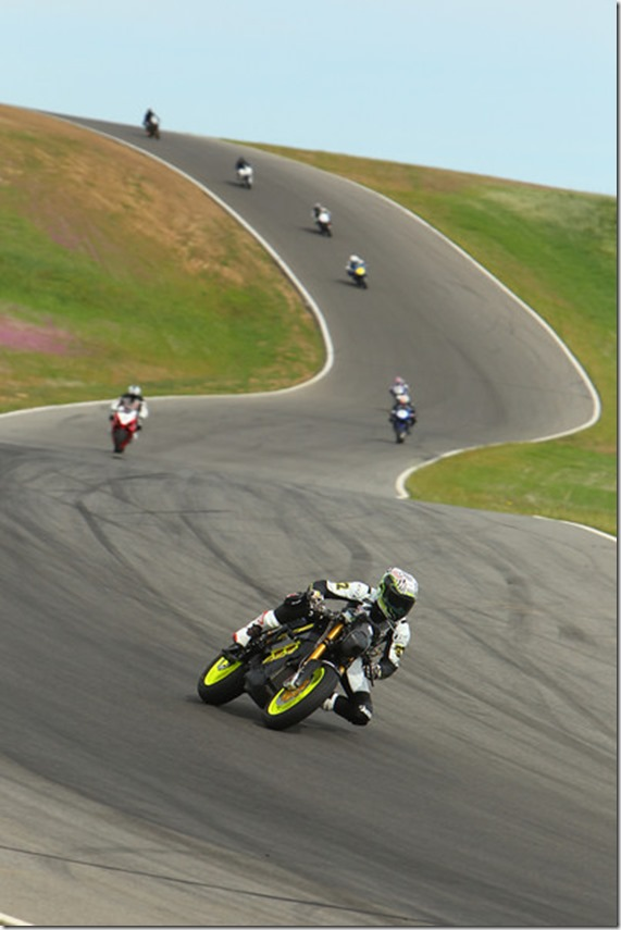 Eric Bostrom testing the 2013 Empulse TTX